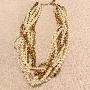 BaubleBar Gold and Pearl Necklace